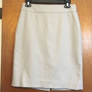 J. Crew grey pencil skirt sz 6